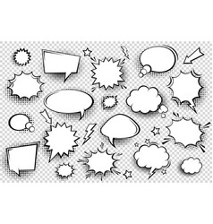 collection empty comic speech bubbles vector image
