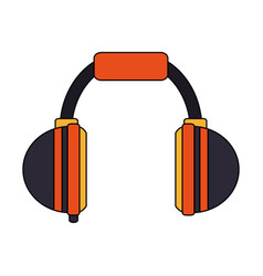 color image cartoon headphones for music vector image