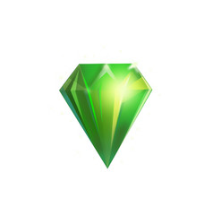 crystal for game vector image