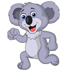 Cute koala cartoon running vector image