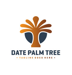 date palm logo design vector image