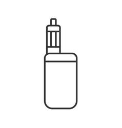 E-cigarette linear icon vector