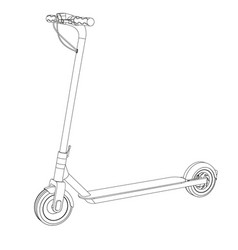 electric scooter bike vector image