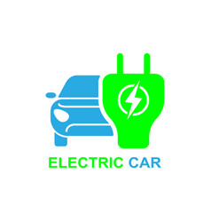 Electro car icon logo element vector