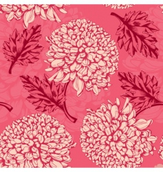Excellent seamless pattern with chrysanthemum vector