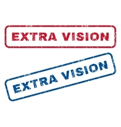 Extra Vision Rubber Stamps vector