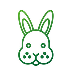 farm animal rabbit face cute furry vector image