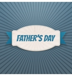 Fathers Day festive Badge with greeting Ribbon vector