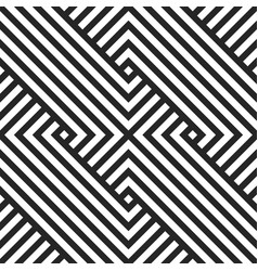 Geometric seaamless pattern black and vector