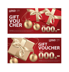 gift voucher coupon template for your business vector image