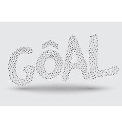 Goal text line dot vector