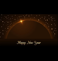 happy new year background with magic gold rain and vector image