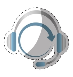 Headphone service repair icon vector