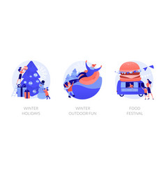Holidays concept metaphors vector
