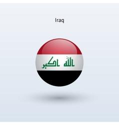 Iraq round flag vector image