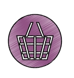 Isolated shopping basket vector