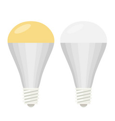 Led lamp flat vector