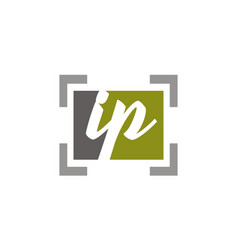 letter ip modern vector image
