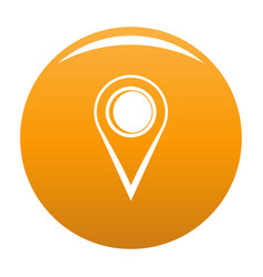 Location mark icon orange vector