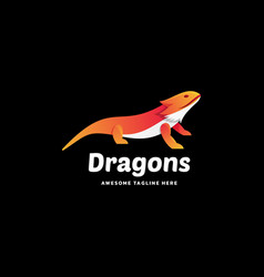 logo dragons gradient colorful style vector image