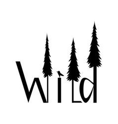 logo wild image vector image