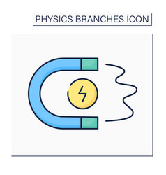 Magnetism color icon vector