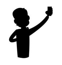 Man using phone icon image vector