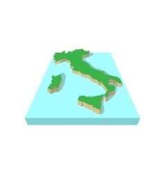 Map of italy cartoon style vector image