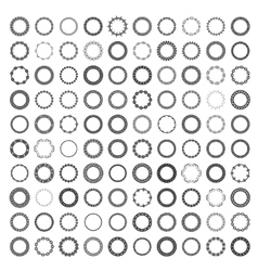 Mega set 100 most popular round frames vector