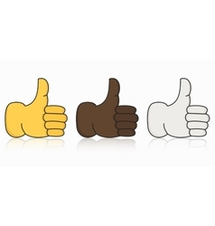 modern thumbs up icon set on white vector image