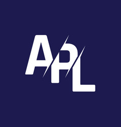 Monogram letters initial logo design apl vector