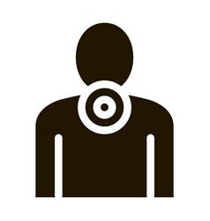 Neck pain icon glyph vector