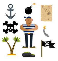 Pirate icons pirate of icon sets vector