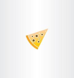 Pizza piece icon vector