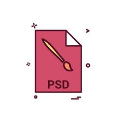 Psd file file extension file format icon design vector
