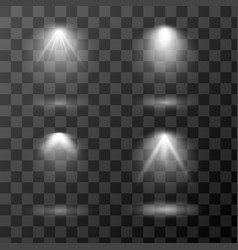 set light sources isolated on vector image