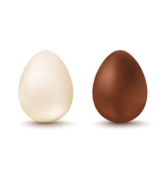 set two eggs for easter vector image