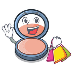 Shopping blosh on in the shape character vector