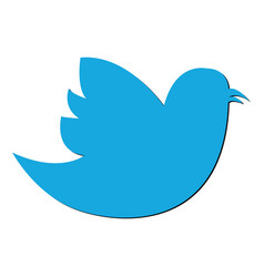 social bird icon on background modern flat twitte vector image