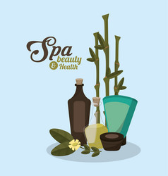 Spa beauty related icons image vector