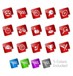 Sport Stickers vector image