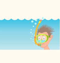 The scuba diver sinks vector