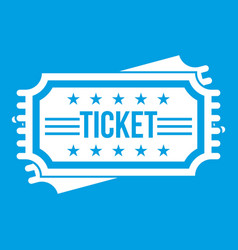 ticket icon white vector image