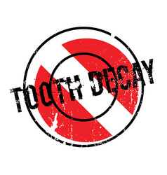 Tooth decay rubber stamp vector