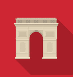 triumphal arch icon in flat style isolated on vector image