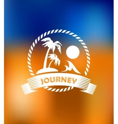 Tropical summer vacation icon vector