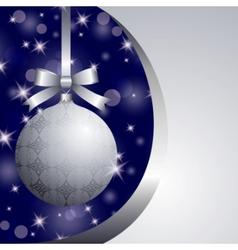 Xmas silver ball vector