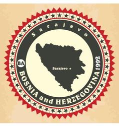Vintage label-sticker cards of Bosnia and Herzegov vector image vector image