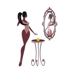 A fat woman vector image