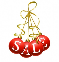 Christmas sales symbol vector image